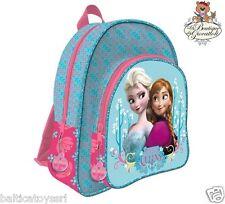 3e0c8edc5a Zaino scuola tempo libero Disney Frozen Anna e Elsa 2 cerniere azzurro