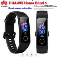 "Original New Huawei Honor Band 5 Smart Wristband 0.95"" Amoled Color Screen Black"