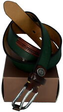 Cintura Uomo Donna Verde Scuro La Martina Belt Men Woman Dark Green