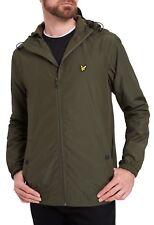 Lyle & Scott Men's Zip Through Jacket Lightweight Casual Hooded Coat Sage Green