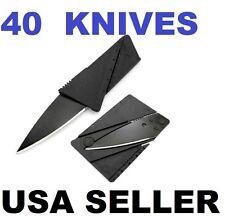40 Credit Card Knives Pocket wallet knife Survival Steel Blade Tool folding thin
