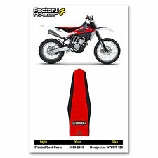 2009-2013 HUSQVARNA WR-CR 125 Black/Red PLEATED SEAT COVER by Enjoy MFG