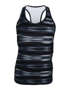 Lauren Ralph Lauren Racerback Stretch Jersey Tank XXL Black/Blue MSPR $59.50