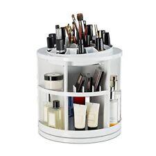 Relaxdays organizador maquillaje con 38 compartimentos blanco 29x27x27 cm