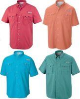 NEW Mens Columbia Bahama II PFG Short Sleeve Fishing Shirt Omni-Shade Vented UPF