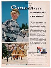 "1961 Canada...Wonderful World At Your Doorstep!"" Vintage Travel Print Ad"