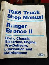 New Listing1985 Ford Truck Shop Manual Ranger, Bronco Ii
