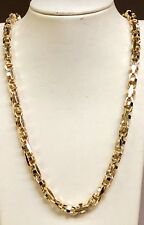 Link Chain Necklace 8.5Mm 212grm 32 14k Solid Yellow Gold Anchor Mariner Bullet