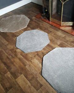 Modern octagon floor rug carpet beige/grey quality cheap #10,029-31