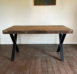Handmade Rustic Dining Table Made of Reclaimed Recycled Wood | Dining Room Table