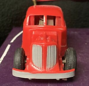 VINTAGE NOS MARX  RED 1940's SPARKLING HOT ROD FRICTION COUPE RACER /w BOX WOW!