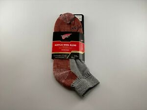 Red Wing Shoes Mens Quarter Crew Socks Acrylic/Wool Blend Size 9-12