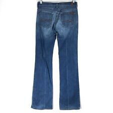 7 For All Mankind Jeans Womens 28 Boy Cut Boycut Button Fly Actual Size 30x35