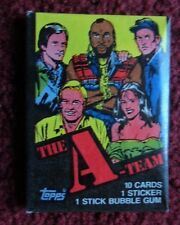 Unopened Pack THE A-TEAM TV Show Trading Cards ~ George Peppard Group Wrapper