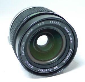 Olympus Zuiko Auto-W OM 1:2 24mm F2 Objektiv An-Verkauf!  ff-shop24
