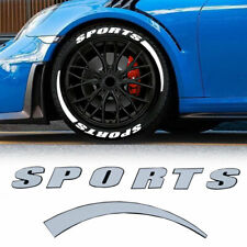 """8 Sets SPORTS Tire Lettering Permanent Sticker For 14""""-22"""" Wheel Decal Universal"""