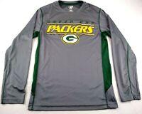 NFL Team Apparel Men's Green Bay Packers, Gray, Long Sleeve, TX3 Cool Shirt Sz S