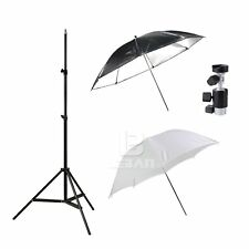 Flash Kit Soft umbrella +reflective umbrella+light stand+umbrella holder
