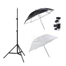 Flash Kit Soft umbrella +reflective umbrella+light stand+umbrella holder