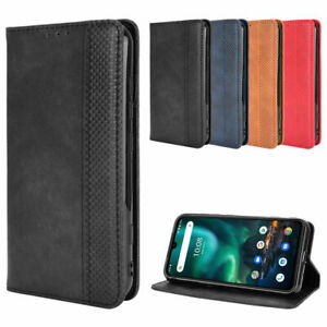 For Umidigi Bison Magnetic Protective Flip Leather Card Wallet Stand Case Cover