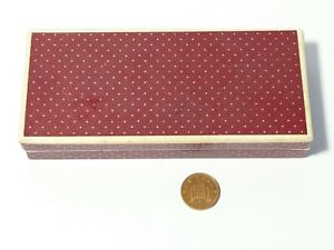 Vintage Empty ROLL-TIP  Pen Box Red with White Polka Dots #T220C