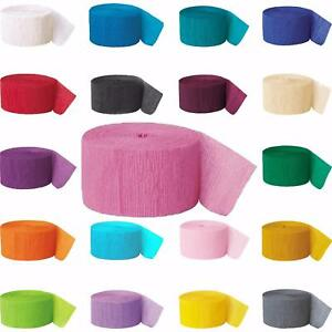 3 x Crepe Paper Rolls 81ft - Streamer Decoration Bunting 24 metres -19 Colours