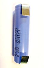 Batteria litio-ion SAMSUNG ICR18650-22P 3,7V 2200mAh 10A lamelle-linguette-tags