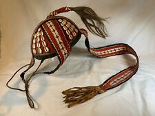 ANTIQUE UNIQUE AFRICAN HAND MADE HAT COWRIE SHELLS AFRICAN ART, c541