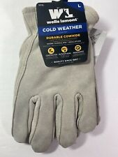 Well Lamont Cold Weather Cowhide Leather Gloves Large 1072L NEW