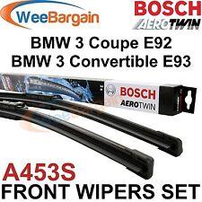 BMW 3 Coupe E92 Convert. E93 Genuine BOSCH A453S Aerotwin Front Wiper Blades Set