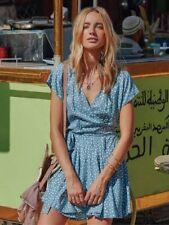 Kivari Jardia Polka Dot Wrap Dress S
