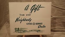 1950s CITIES SERVICE OIL HISTORICAL PRINTS ANTIQUE CARS Dealer Giveaway PROMO