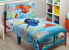 New Disney Finding Dory 4-Piece Toddler Bedding Set
