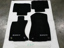 FLOOR MATS SET LEXUS IS250 IS350 AWD F-sport BLACK FRONT REAR OEM 14-16 no miles