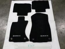 FLOOR MATS SET LEXUS IS250 IS350 AWD F-sport BLACK FRONT REAR OEM 14-16 no miles