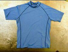 Mens Coolibar Short Sleeve T Shirt Activewear Uv Protection Blue summer fishing
