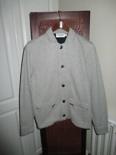 Topman Marl Grey Jersey Cotton Jacket Size S