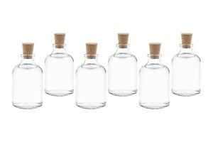 25 x 50 ml TR Glas-Flaschen Kleine mini Fläschchen mit Korken auch 20 40 100 ml