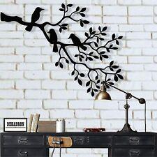 Metal Birds Art, Metal Wall Decor, Birds on Branch, Birds Sculpture Wall Art