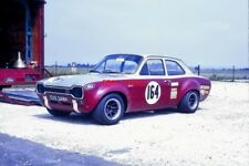 PHOTO  FRANK GARDNER FORD ESCORT BDA THRUXTON AUGUST 1970 THIS WAS THE FIRST OUT