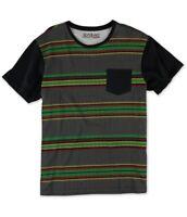Silver Lake Mens Herringbone Rasta Graphic T-Shirt