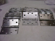 """20 Odd Lot CC Door Hinges Ball Bearing Stainless Steel Finish 4-1/2"""" Commercial"""