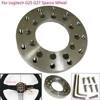 70MM Aluminum Steering Wheel Adapter Plate Pour Logitech G25 G27 Sparco Wheel