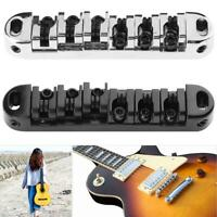1 Set Zinc Alloy Roller Saddle Tune-O-Matic Bridge with 2 Studs for LP Guitar