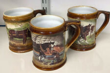 More details for great yarmouth pottery , set of 3 tankards, working heavy horses