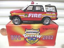 Matchbox 2002 New York City 50th ANNIVERSARY FORD FIRE EXPEDITION New Mint Boxed