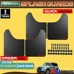 4x Black Front Rear Universal Splash Guard Mud Flap for Mitsubishi Pajero Triton