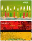 2x WALMART 10TH BIRTHDAY CAKE RED FUNKY SPRING DESIGN COLLECTIBLE GIFT CARD LOT For Sale