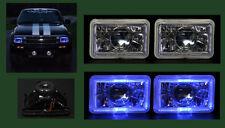 H4656 H4666 H4651 H4646 Blue Halo Chrome Projector Headlights4x6