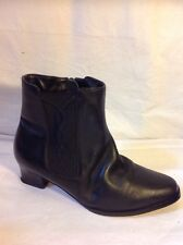 The Shoe Tailor Black Ankle Leather Boots Size 6